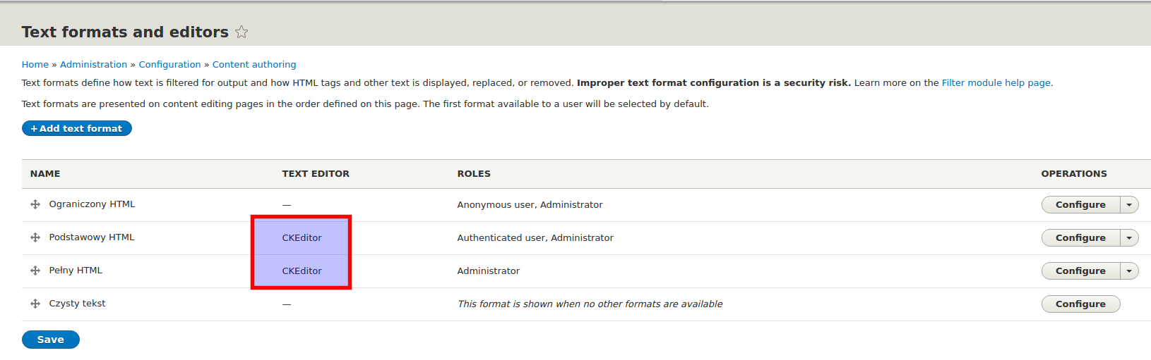 CKEditor in Drupal 8 Configuring new options pt  I