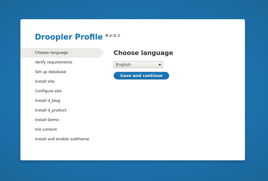The Droopler installer