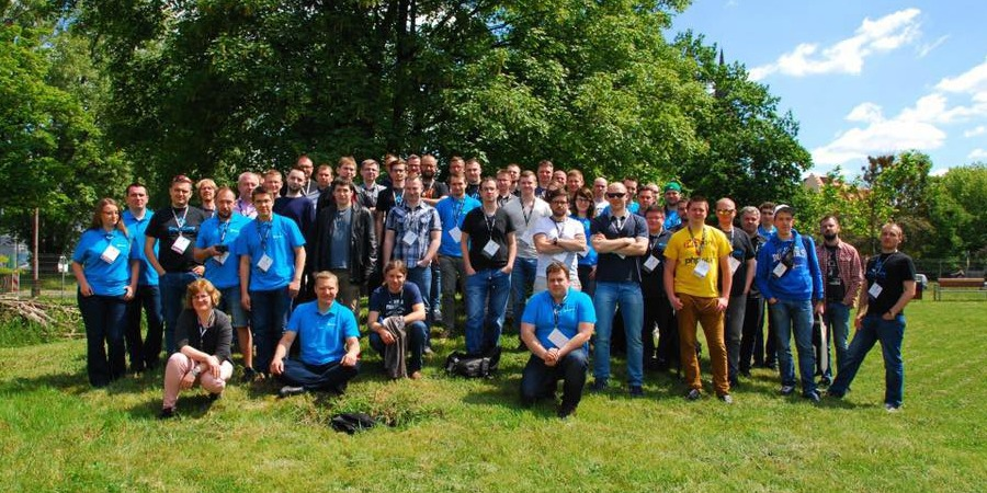 A photo of Drupal Camp Wrocław 2017 attendees