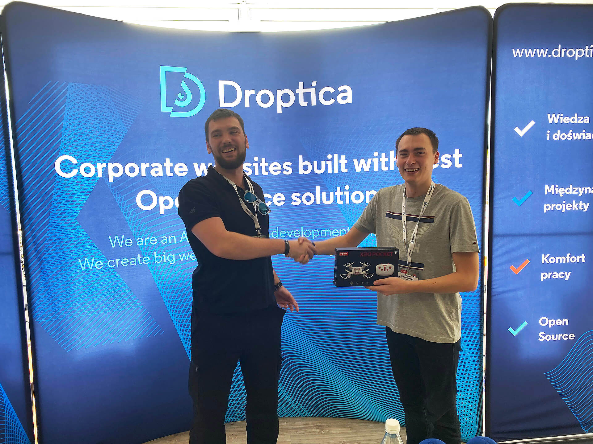 one of the winners and droptica developer
