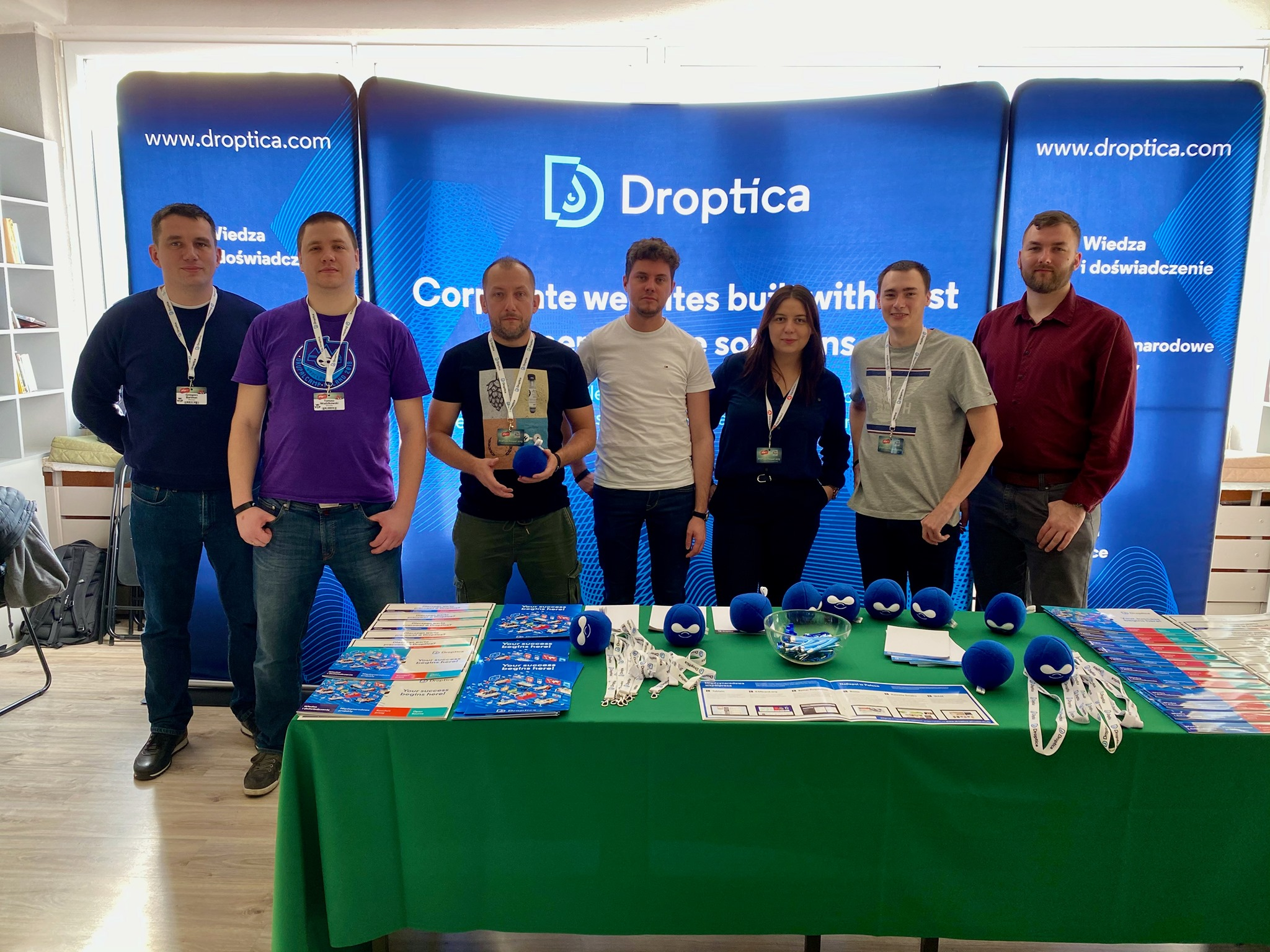 Droptica Team during the event