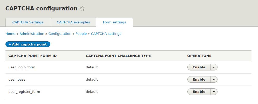 CAPTCHA - list