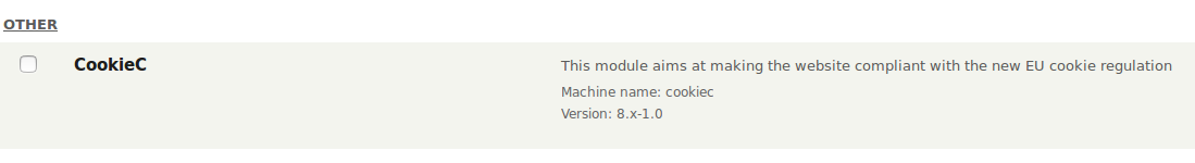 CookieC visible on the list