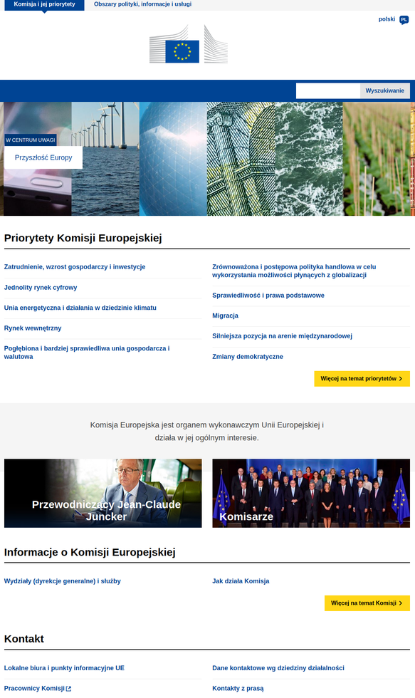 European Commision main website