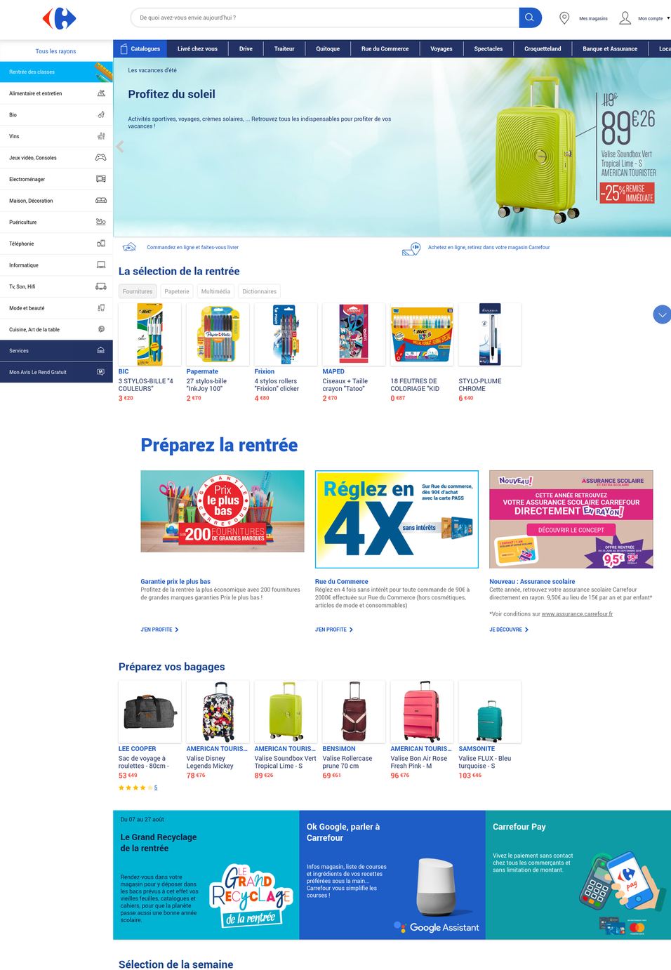 Carrefour's website