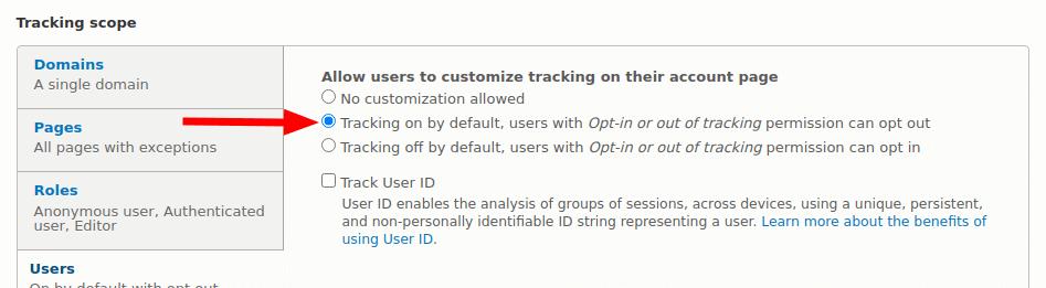 Google Analytics - Opt-in