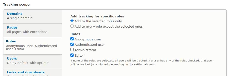 Google Analytics - Role użytkowników