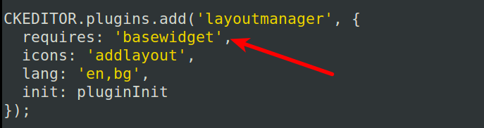 "List of plugins needed to install tle ""layout manager"" plugin from plugin.js file"