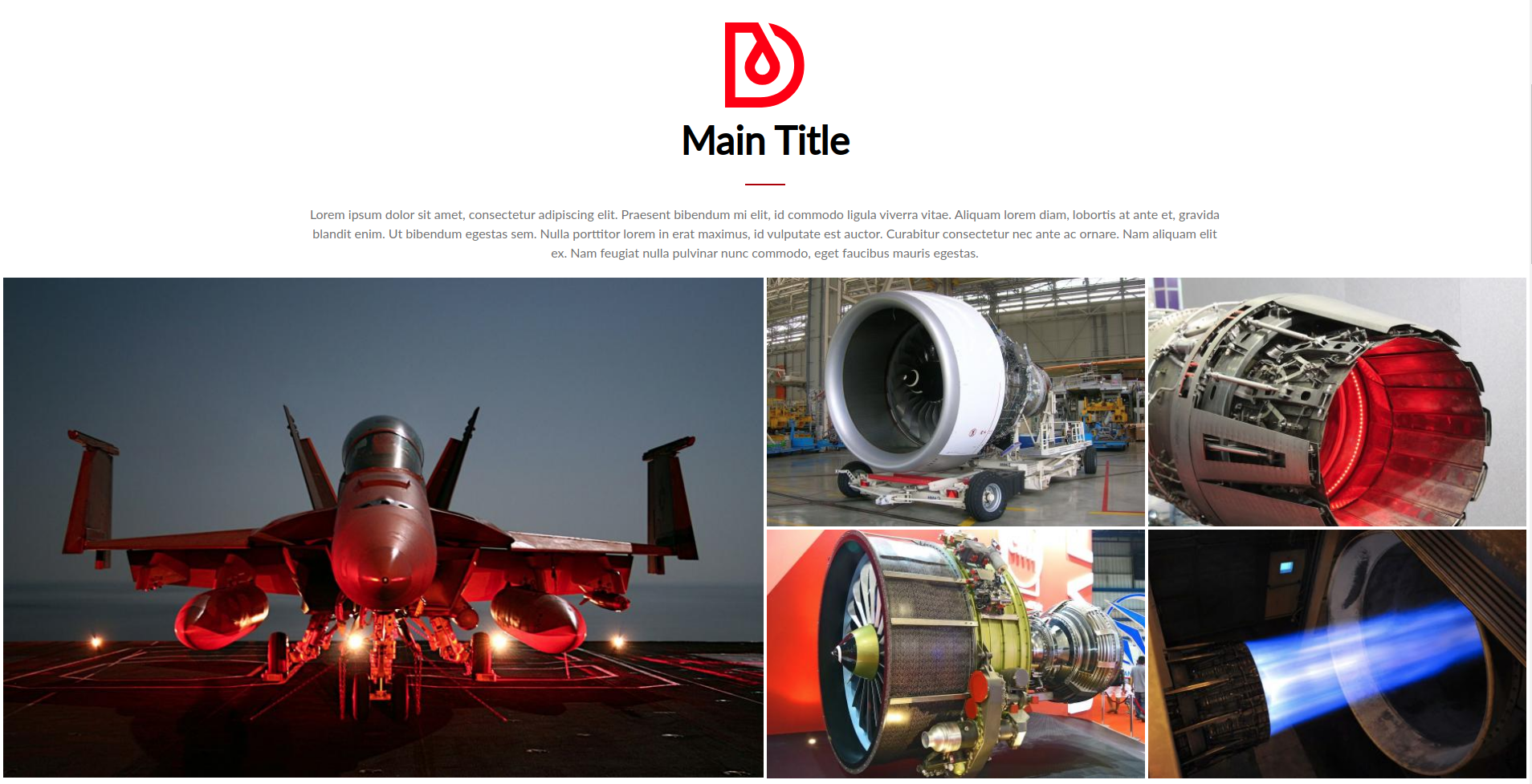 An example of using a photo as a tile on a website based on Droopler, thanks to the Drupal Media module