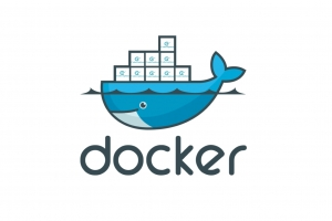 Logo: Characteristic docker logo with blue whale with containers on it's back. Box print changed for codeception mini-logos