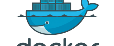Docker logo - a blue whale with containers on its back