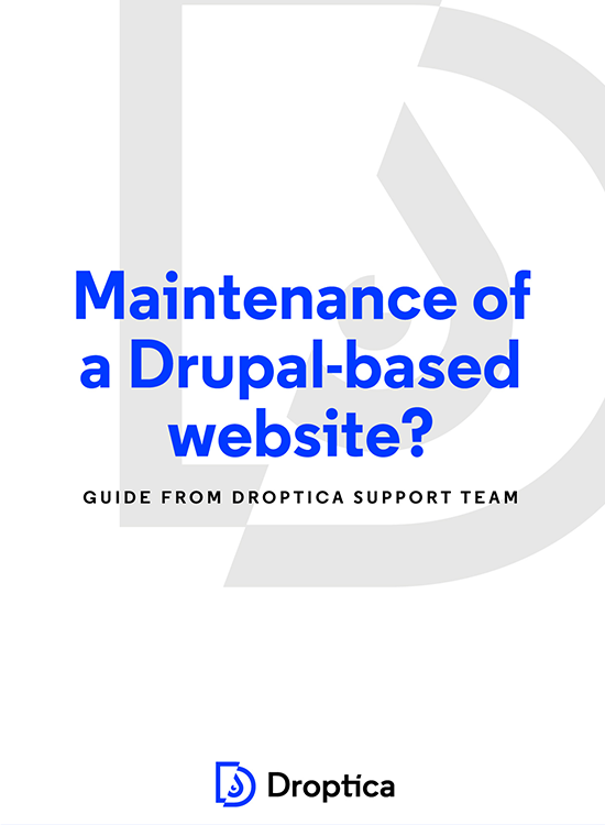 Main page - Maintenance of a Drupal based website